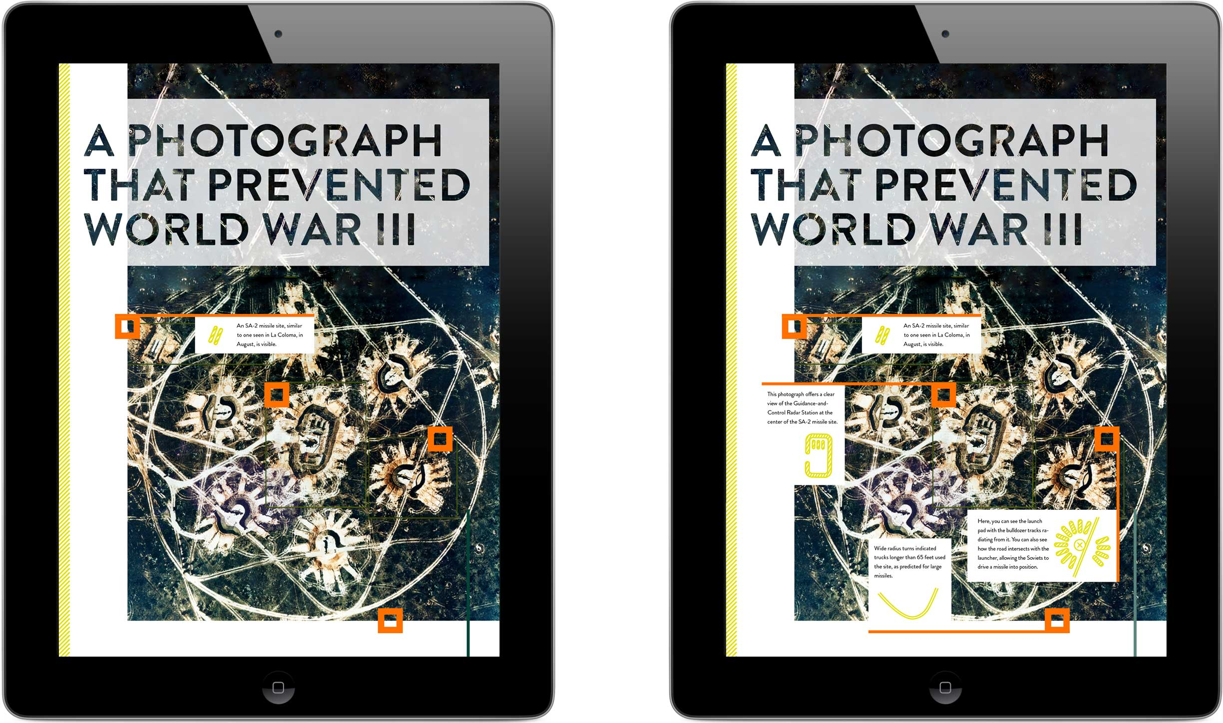 A photograph purported to have prevented World War III introduces an article, the name of which it inspired.