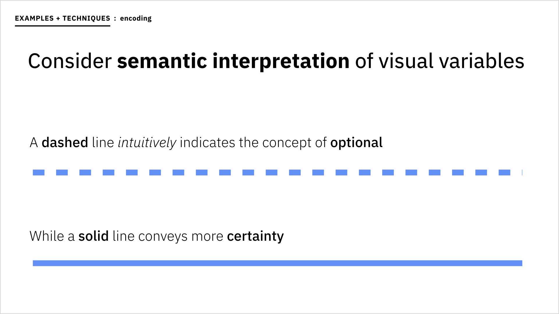 I also leaned into semantic interpretations of various visual variables.