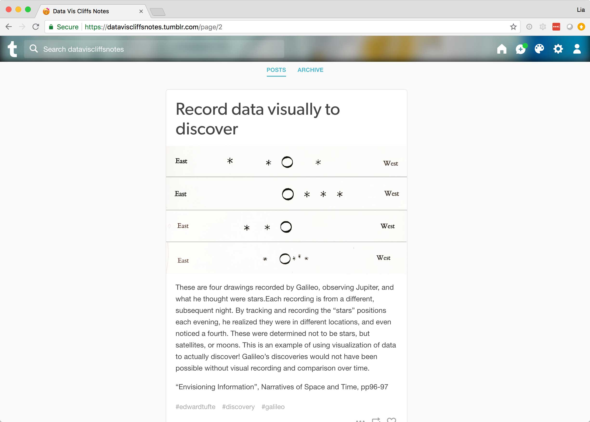 An example post about the ability to discover new scientific concepts via records.