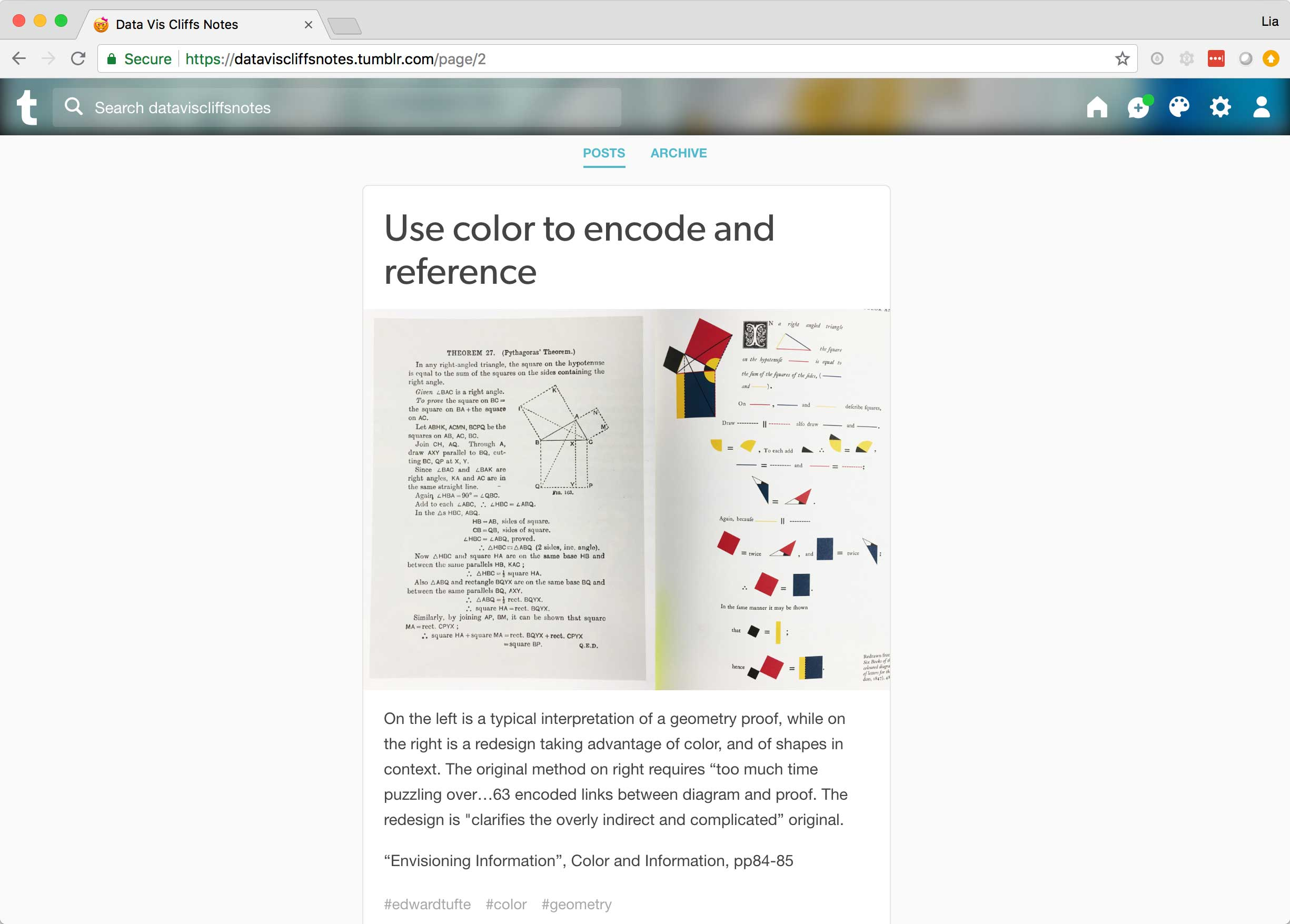 An example post about using color to encode diagrams and any associated content.